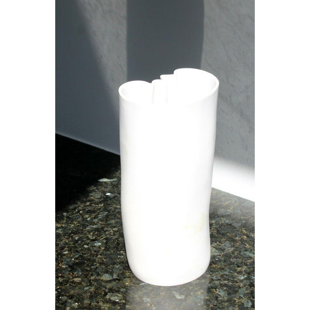 Modern Modernist White Porcelain Meissen Vase, Stamped For Sale - Image 3 of 5