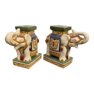 Vintage Elephant Bookends - a Pair For Sale