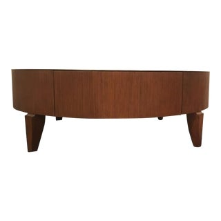 Barbara Barry for Henredon Reeded Cocktail Table For Sale