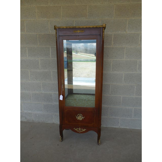 Vintage French Louis XV Style Lighted Curio Cabinet 24