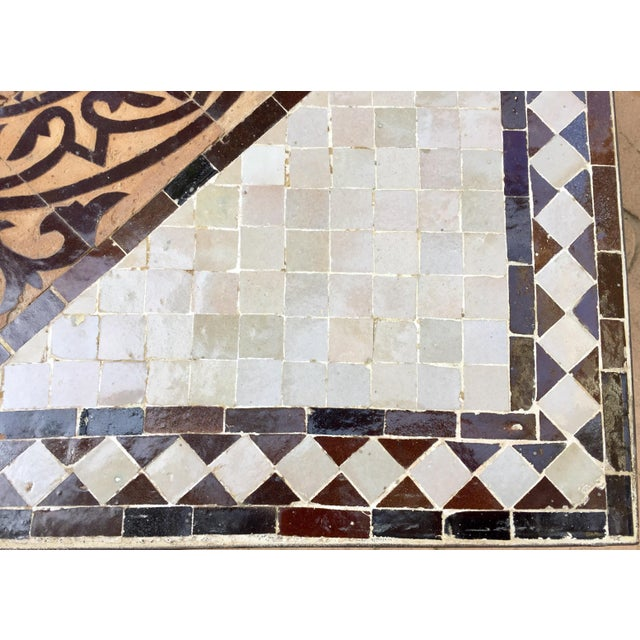 Great Moroccan mosaic tile coffee table, delicately handcrafted in Fez with traditional Islamic Moorish geometric hand...