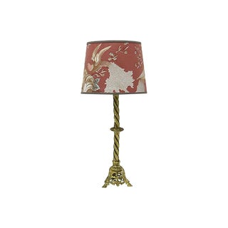 Vintage English Lamp / Pendant Shade W/ Peacocks