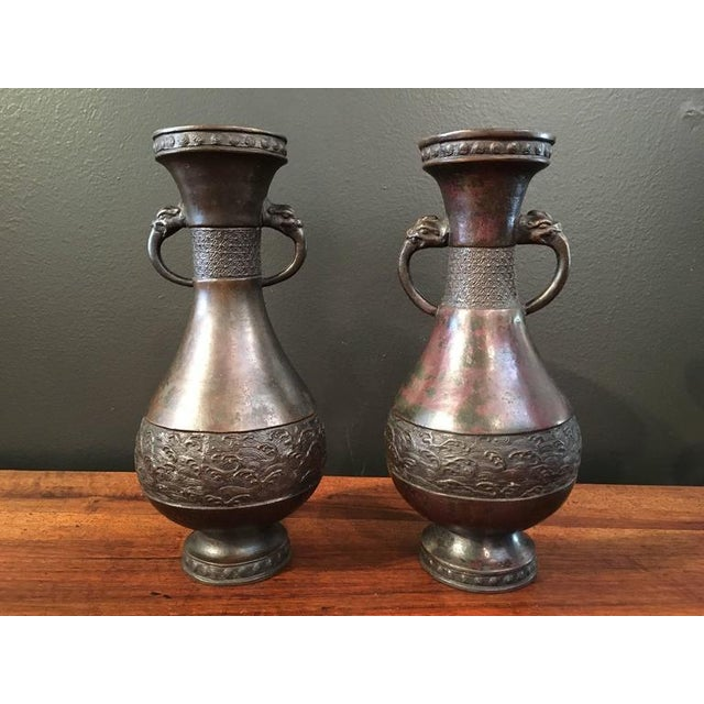 Assembled Chinese Late Yuan / Early Ming Dynasty Bronze Garniture - Image 3 of 7