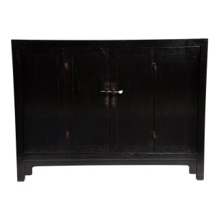 Chinese Side Chest With Bi-Folding Doors and a Shelf
