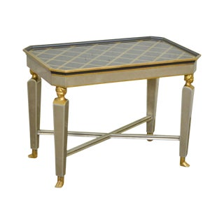 J. Robert Scott Black Gold & Silver Empire Style Side Table