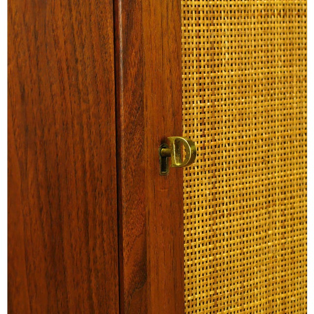 Dunbar Walnut and Cane Credenza by Edward Wormley For Sale - Image 9 of 10