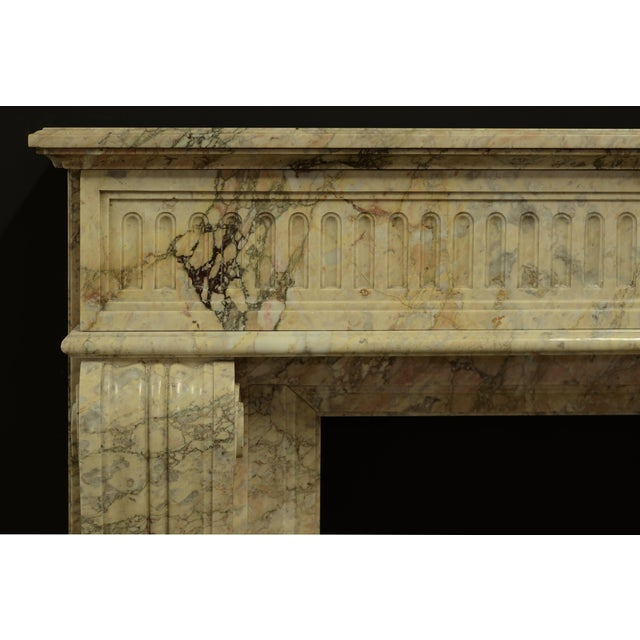 Exquisite antique Louis XVI from France, executed in beautiful escalette marble. Some old restoration, great patina. Ready...