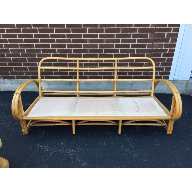 Vintage Ficks Reed Co. Vintage Rattan Sofa - Image 10 of 11
