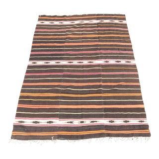 Nomadic Vintage Persian Wool Kilim For Sale