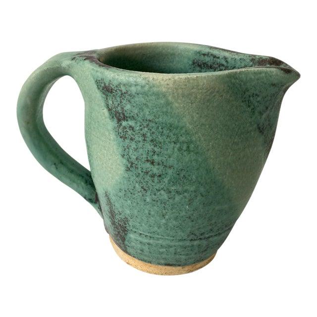 Vintage Green Ceramic Pitcher - Image 1 of 4