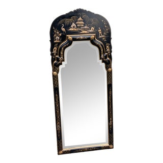 Labarge Chinoiserie Hand Painted Mirror For Sale