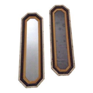 Vintage Design Arts Inc. Distressed Mirrors Wall Hanging - a Pair For Sale