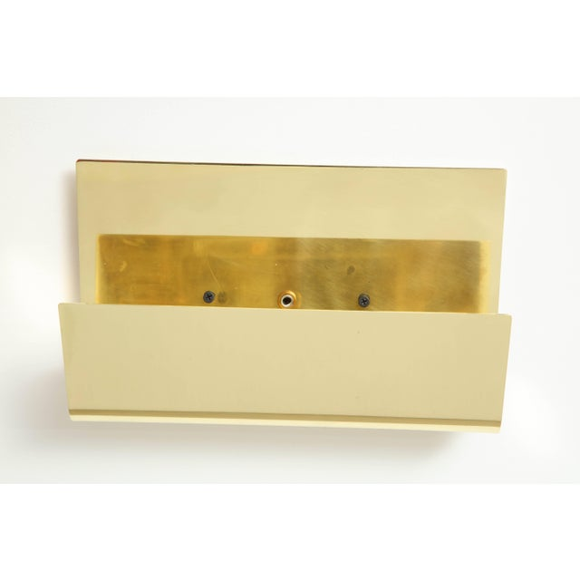 Metal Minimalist Italian Brass Sconces - a Pair For Sale - Image 7 of 9