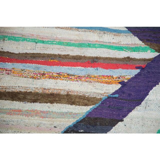 "Vintage Rag Rug Carpet - 5'1"" X 8' - Image 7 of 9"
