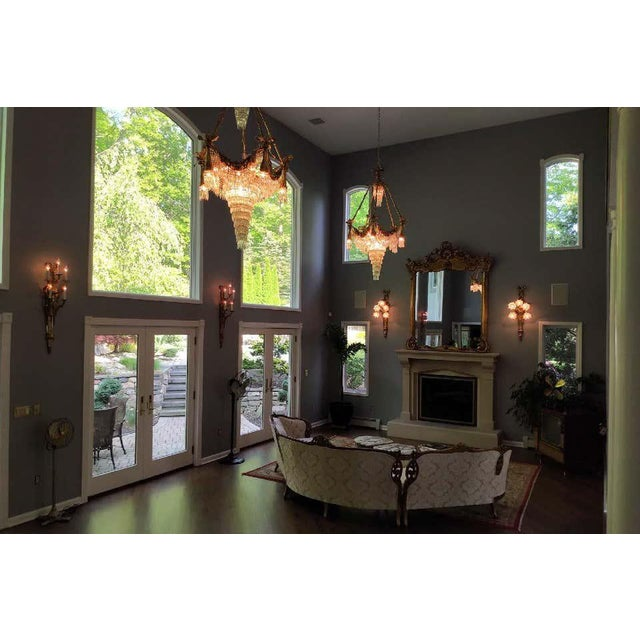Bronze Louis XVI Style Crystal Ribbon and Tassel Drapery Chandelier For Sale - Image 4 of 10