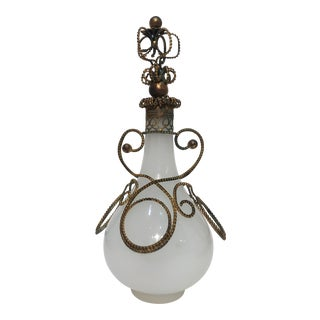 French Decorative Opaline Bottle For Sale