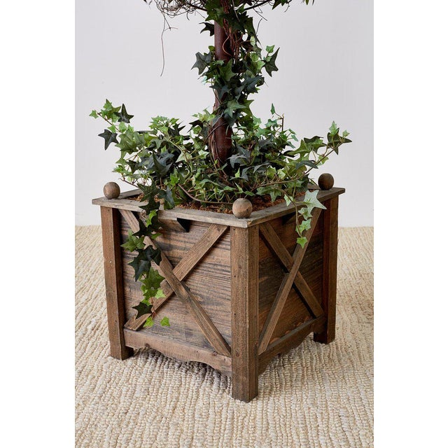 Pair of Neoclassical Faux Ivy Topiary Trees For Sale In San Francisco - Image 6 of 13