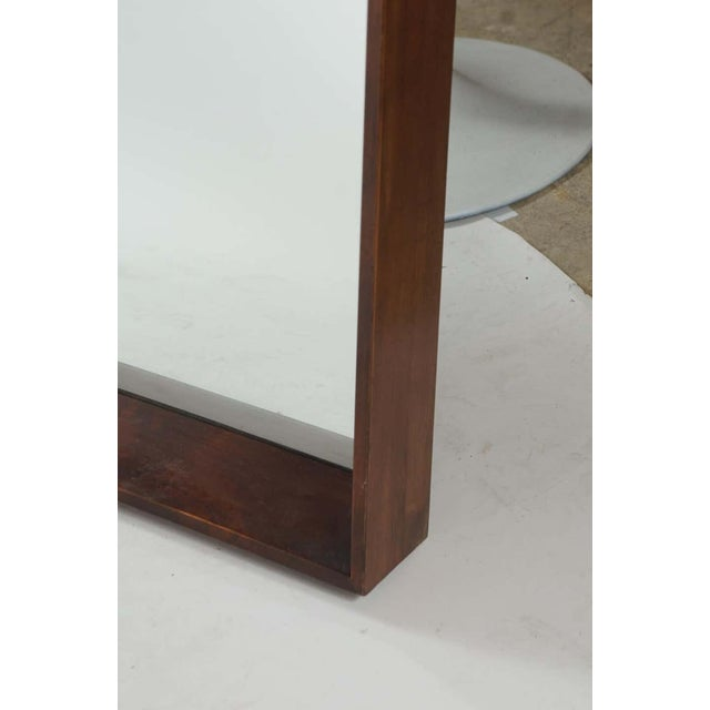 1940s Gilbert Rohde for Herman Miller Square Heavy Walnut Frame 1940s Wall Mirror For Sale - Image 5 of 10