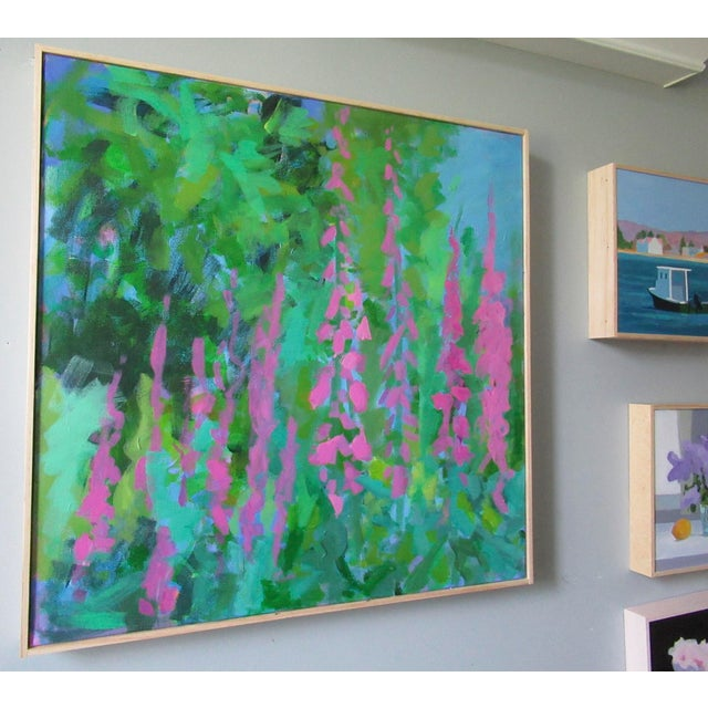 Abstract Foxglove by Anne Carrozza Remick For Sale - Image 3 of 6