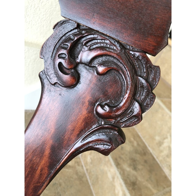 Brown Jacobean Colonial Revival-Inspired Carved Rocking Chair For Sale - Image 8 of 13