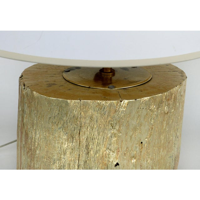 Late 20th Century Silver Leaf and Giltwood Table Lamp For Sale - Image 5 of 9