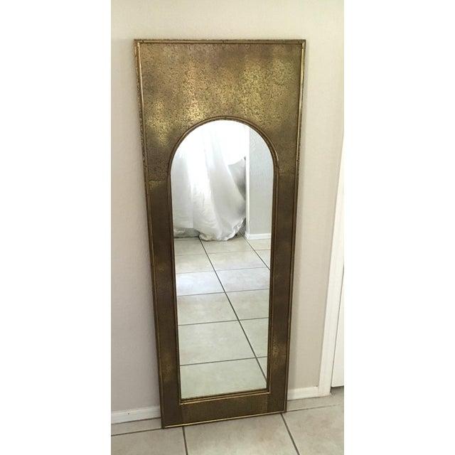 Vintage Mastercraft Brass Arch Rectangular Mirror - Image 2 of 7