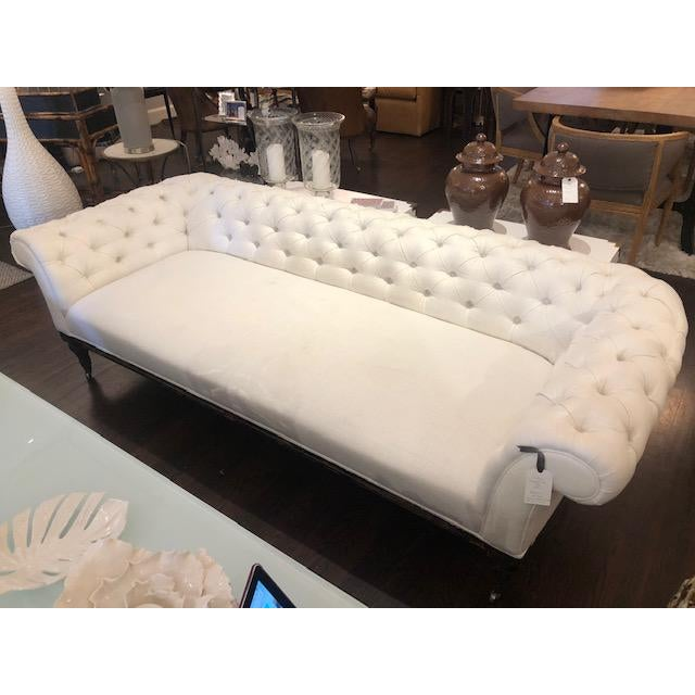 1920's Vintage Tufted Chesterfield Sofa For Sale - Image 4 of 5