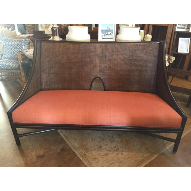 McGuire Bamboo Frame Cane Bench - Image 5 of 5