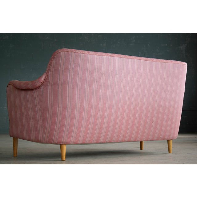 Scandinavian Carl Malmsten Sofa Model Samsas for O.H. Sjogren, Midcentury - Image 10 of 10