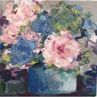"Original ""Hydrangea Pot"" Oil Painting For Sale"
