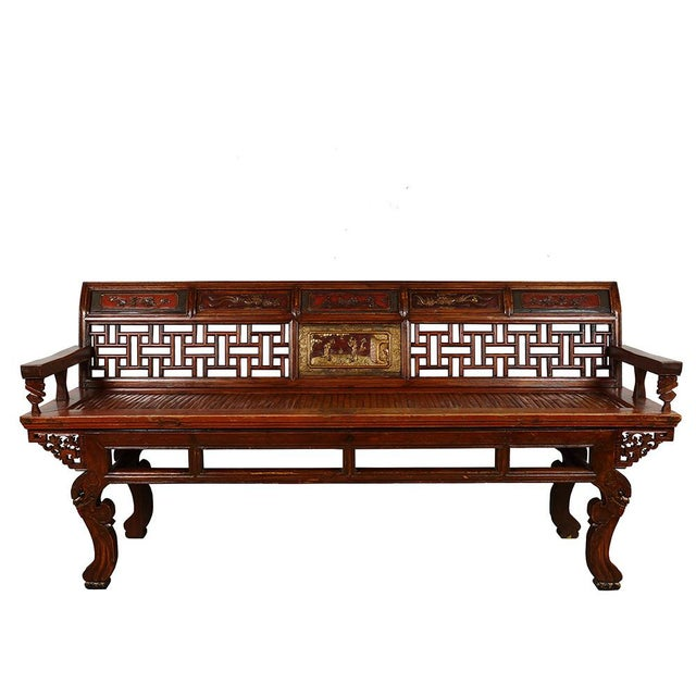 Brilliant Antique Chinese Carved Long Bench Gmtry Best Dining Table And Chair Ideas Images Gmtryco