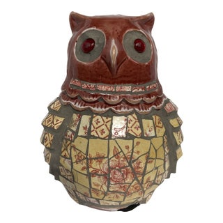 Late 20th Century Mosaic Owl For Sale