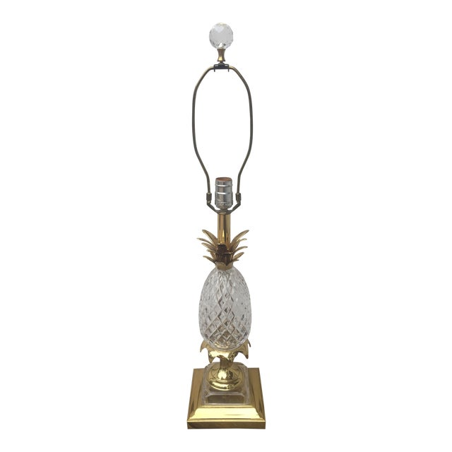 Quoizel Brass Crystal Pineapple Lamp