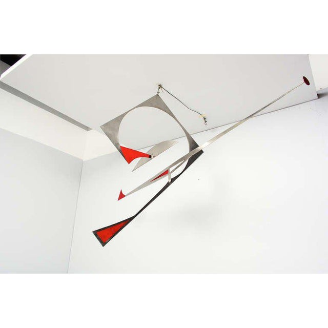 1950s Stainless Steel Hanging Mobile Sculpture For Sale - Image 5 of 10