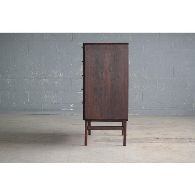 Vintage Danish Mid-Century Rosewood Five-Drawer Dresser For Sale - Image 11 of 11