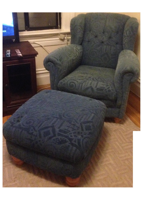 Roche Bobois Winged Chair Amp Chester Ottoman Chairish