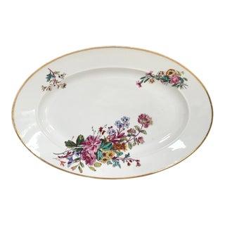 1879 Haviland & Co. Limoges Hand Decorated Gilded Extra Large Serving Platter For Sale