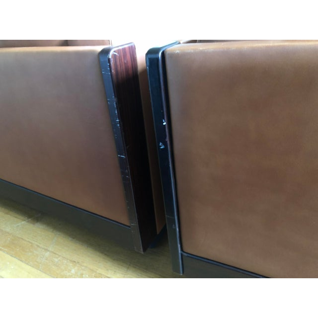 Mid Century Modern Tobia and Afra Scarpa for Gavina 920 Italian Leather Rosewood Sofas - a Pair For Sale In Richmond - Image 6 of 12