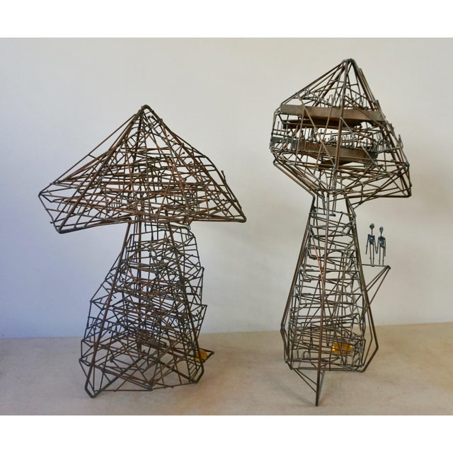 Metal Abstact Wire Sculpture by Guy Pullen For Sale - Image 7 of 9