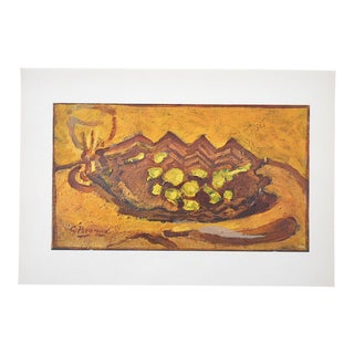 Vintage Mid Century Braque Lithograph For Sale