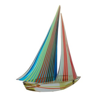 Vintage Alberto Dona' Rainbow Sailboat Sculpture For Sale