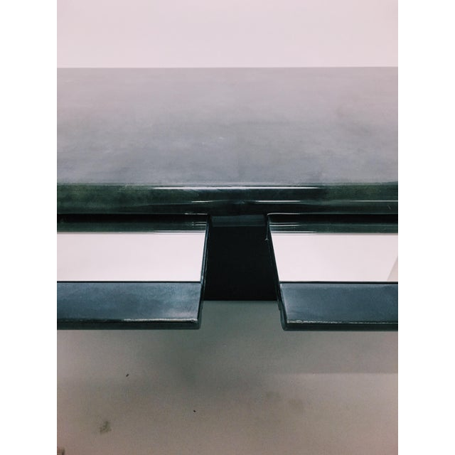 Aldo Tura Indigo Dyed Goatskin Coffee Table - Image 6 of 10