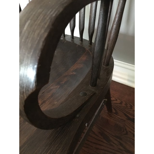 Early American Antique Side Chair - Image 5 of 10