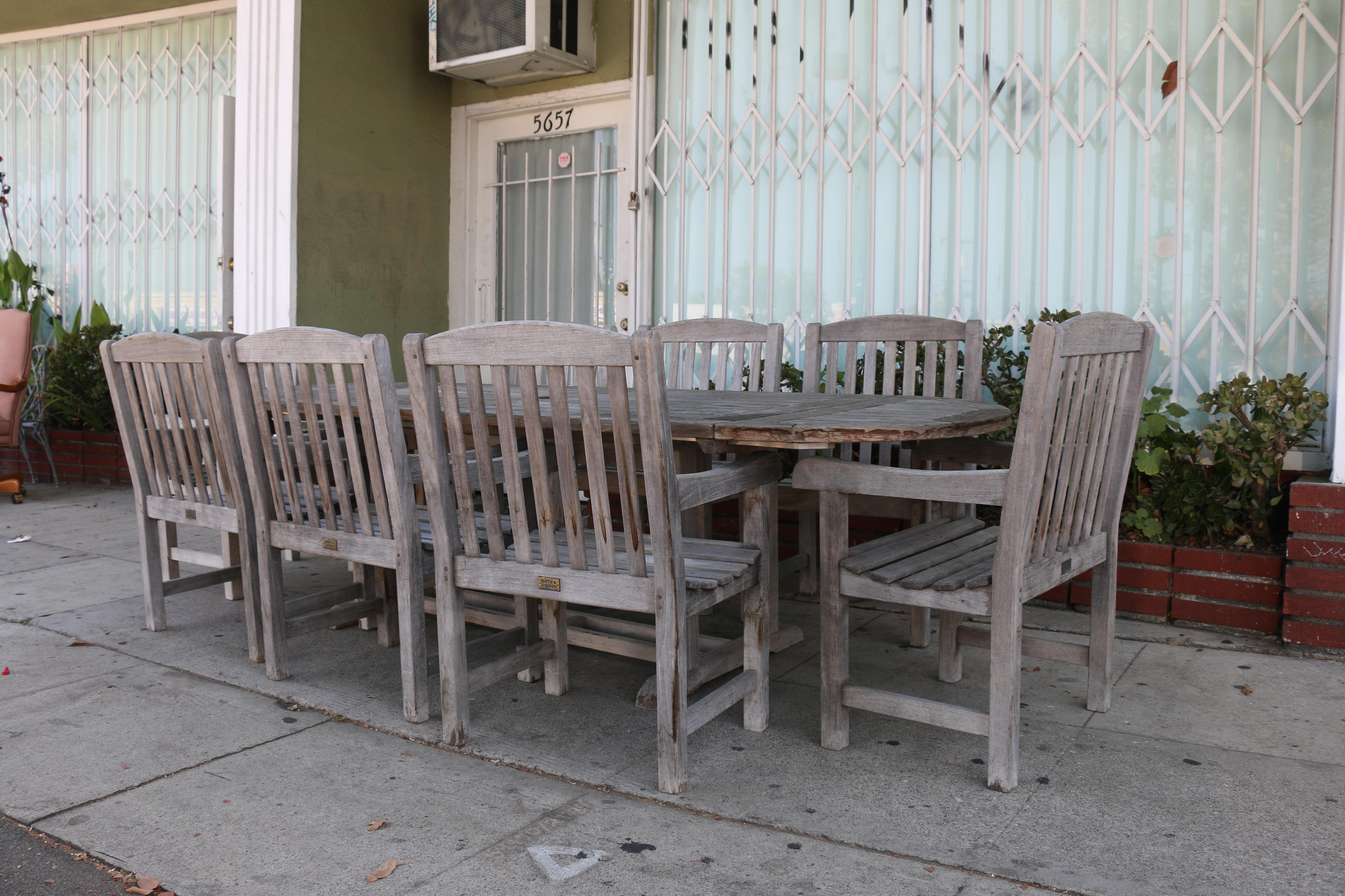 vintage smith and hawken teak outdoor patio set chairish rh chairish com Outdoor Metal Furniture Smith & Hawken Catalog