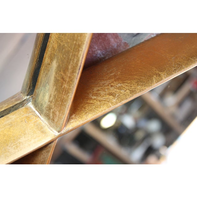 1960s 1960s Interlocking Diamond Giltwood Mirror by Labarge For Sale - Image 5 of 12