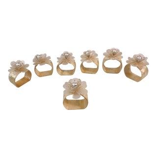 Vintage Shell Napkin Rings - Set of 7