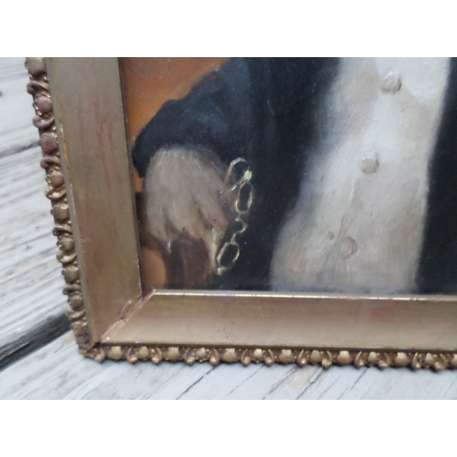 Portrait of a Pug, Contemporary Oil on Board For Sale - Image 4 of 9