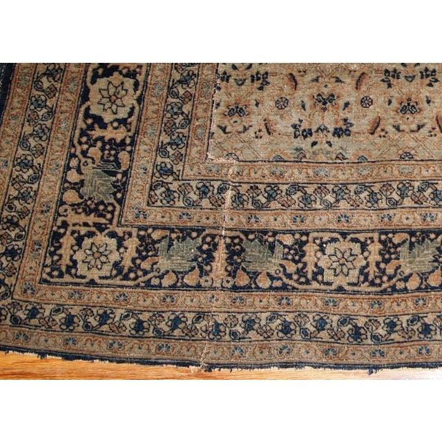 Blue 1880s Handmade Antique Persian Tabriz Hajalili Rug 4.2' X 6.5' For Sale - Image 8 of 13
