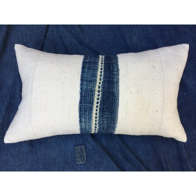 African Indigo Mud Cloth Pillow - Image 5 of 6