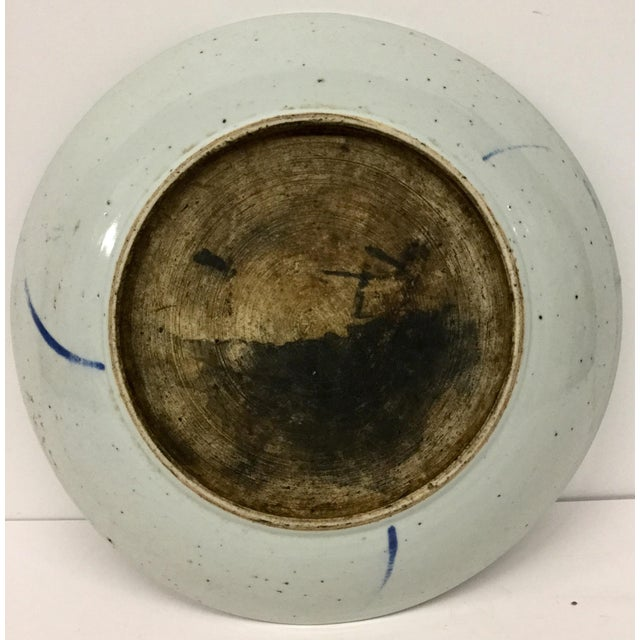 Ceramic 1800's Japanese Porcelain Fish Decorated Bowl For Sale - Image 7 of 13